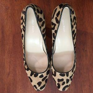 Calvin Klein Malissa Leopard Print Platform Pumps